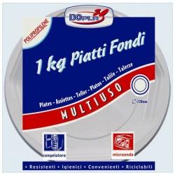 PIATTO FONDO RIGIDO PER MICROONDE 1 KG