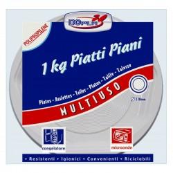 PIATTO PIANO RIGIDO PER MICROONDE 1 KG